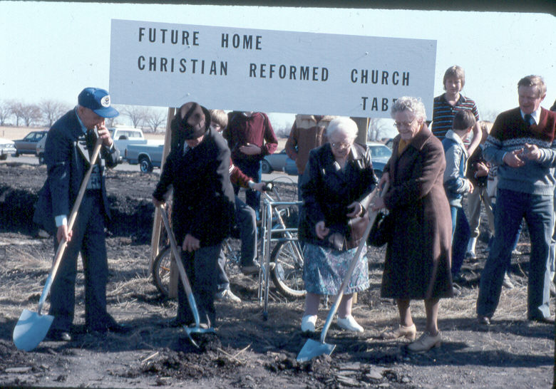 Church buildings sod turning 1985 3